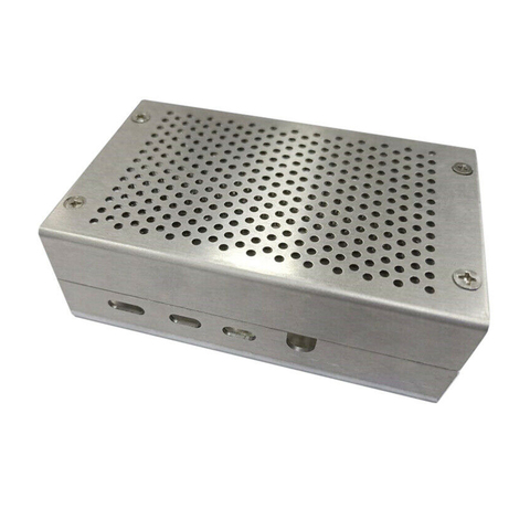 Cooling Electronic Protective Case Box Easy Install Metal Anti Scratch Exhaust Hole Enclosure Aluminum Alloy For Raspberry Pi 4 Lahore
