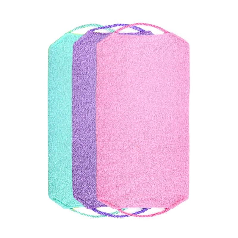 1pc Stretchable Body Clean Exfoliating Neck Back Scrubber Shower Bath Cloth Tool Washcloth 2