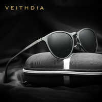 VEITHDIA Vintage rétro marque concepteur Original boîte lunettes de soleil hommes/femmes mâle lunettes de soleil gafas oculos de sol masculino 6625