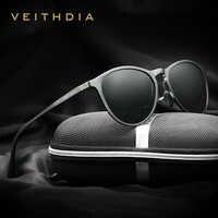 Veithdia vintage retro marca designer original caixa de óculos de sol masculino óculos de sol gafas de sol masculino 6625