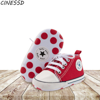 Newborn Baby Infant Shoes 2020 Autumn Girls Solid Lace-up Canvas Shoes First Walkers for Kids Boys Soft Sole Crib Toddler Shoes fashion newborn unisex shallow soft sole babies shoes cotton solid toddler moccasins infant crib outdoor boys girls first walker