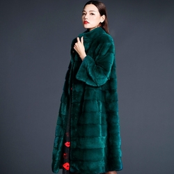 2020 Top Quality Natural Mink Fur Coat Winter Warm Thickening Coats Long Outwear For Women chamarras de mujer MF292