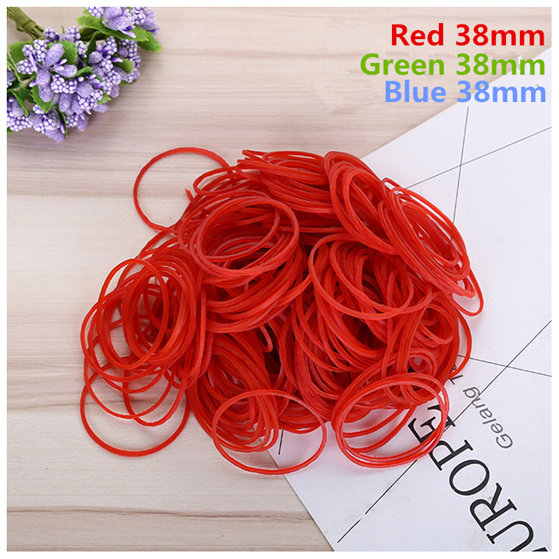 38mm Multicolor High Quality Stationery Holder Thermostability Rubber Bands Strong Elastic Hair Band Loop Office Supplies