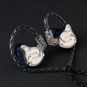 Image 3 - JCALLY 5N טהור כסף מצופה אוזניות שדרוג כבל עם מיקרופון 3.5mm MMCX/QDC/0.78/0.75mm 2Pin עבור KZ TFZ T2 CCA EDX AS16
