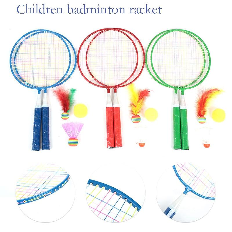 Children Badminton Racket Badminton Set Random Color Metal School Baby Badminton Racket Practical Sporting Goods Movement