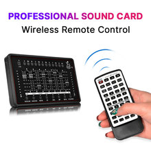 Professional Sound Card Audio Interface Sound Card For bm 800 Studio Microphone For Recording Microphone Broadcast Guitar fashion bm 800 microphone professional recording capacitor microphone 2017 new listing portable filter high quality sound