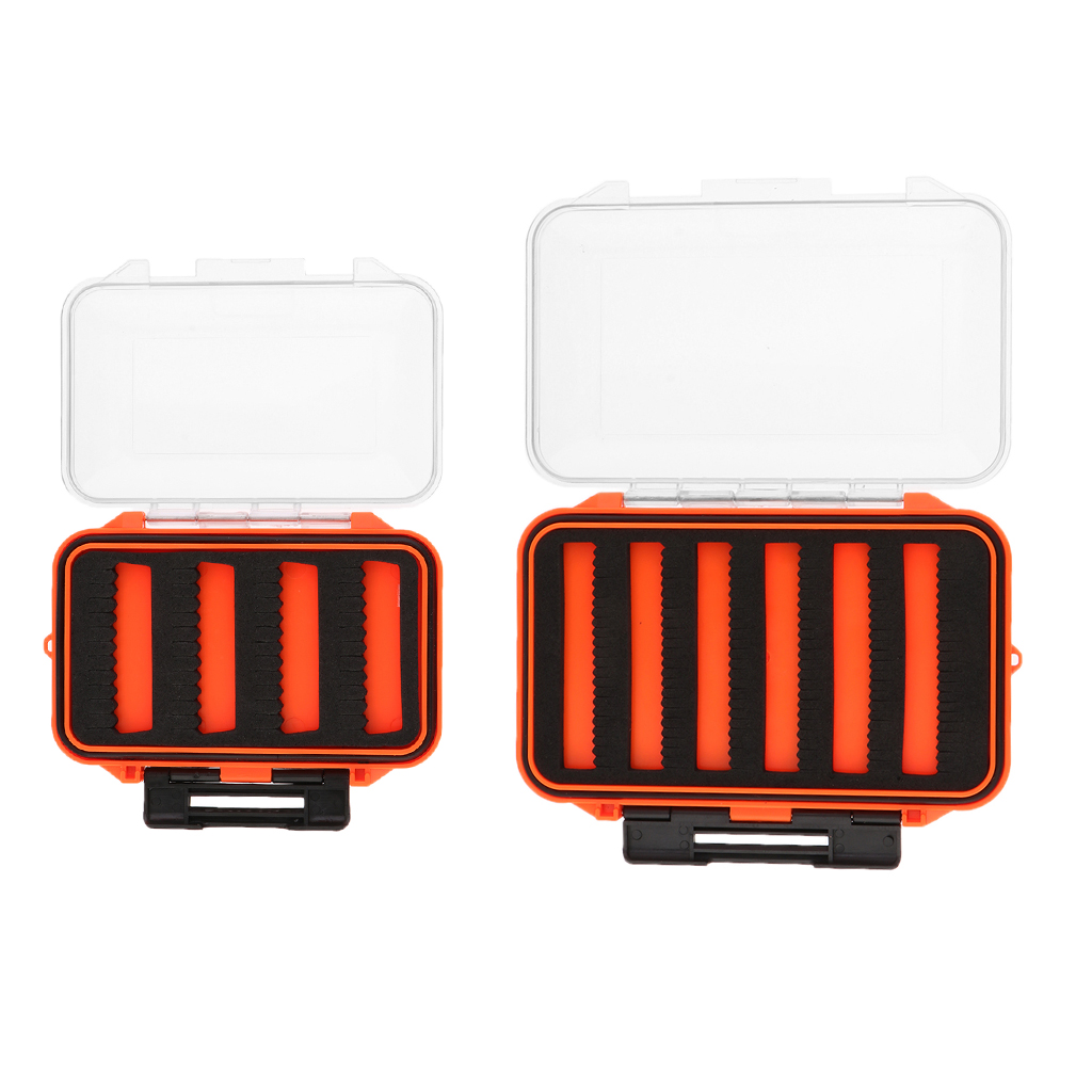Plastic Fly Fishing Box Fishing Lure Case Slit Foam Jig Hook Box Tackle Box