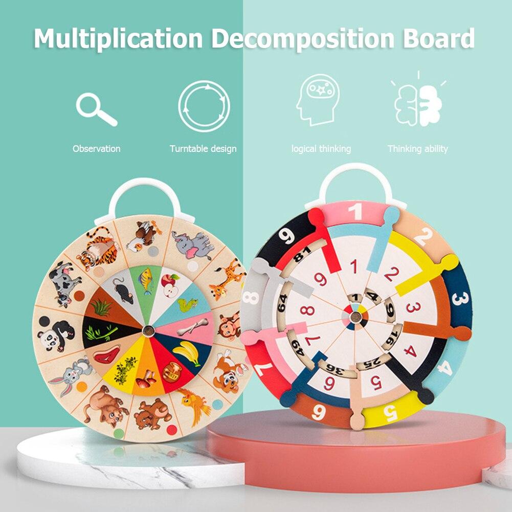 Новинка 2020, детская доска для разложения, Двухсторонняя доска для разложения умножения, арифметическая доска для разложения, диск, детские ...