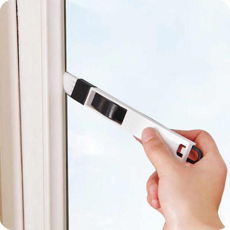 2In1 Gap Finestra Spazzola per La Pulizia Scanalatura Spazzola per La Pulizia Domestica Tastiera Tende da Cucina Pennello Spolverare Strumenti di Pulizia Digitale