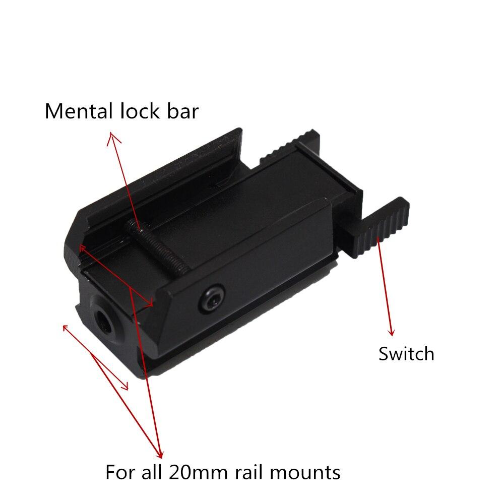 Tactical Red Dot Laser Sight for glock 17 19 colt1911 Beretta M9 sigsauer Pistol Airsoft Gun Sight laser Scope 20mm rail laser-3