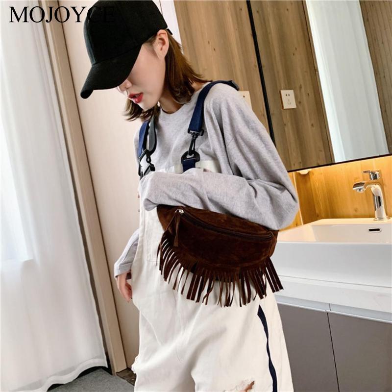 New Tassel Waist Belt Packs Flannel Women Fanny Chest Crossbody Bag Casual Girls Messenger Bag Sac A Dos Bolsas Feminina Mujer