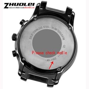Image 5 - Dla AR1452 AR1451 ceramiczne watchband i przypadku 22mm 24mm wysokiej jakości czarny mężczyźni ceramiczne pasek bransoleta ceramiczna ze stali czarny deployment kompania bransoletka