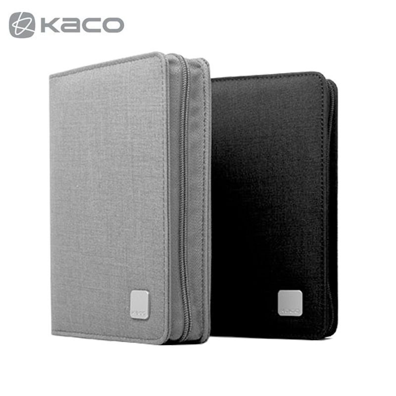 KACO ALIO Pen Storage Bag Portable Zipper Pencil Bag Pen Case Waterproof Canvas Black Grey for 10 20 Pens 6