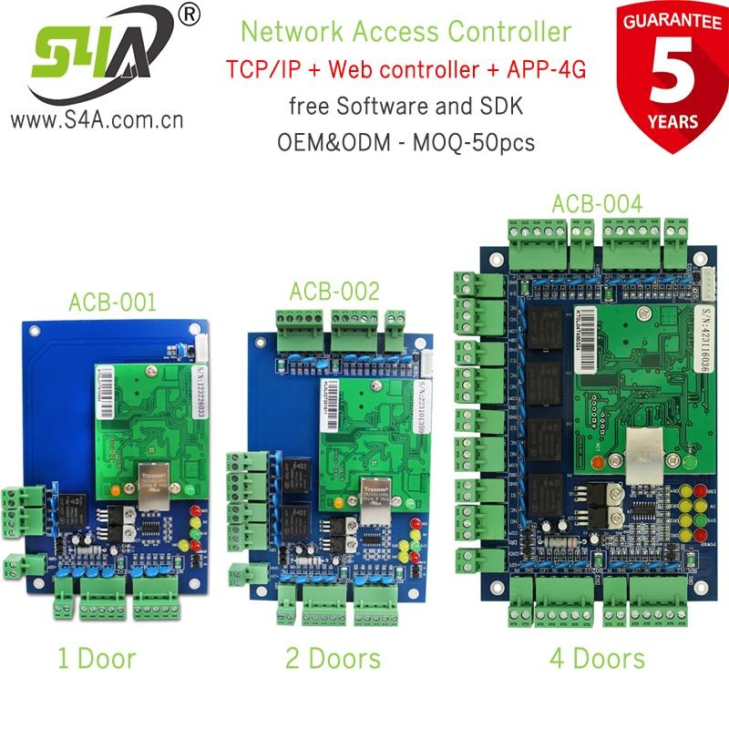 TCP IP Ethernet плата контроллера доступа совместима со всеми RFID кард-ридером Wiegand 26 сетевой контроллер доступа