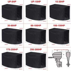 Waterproof Universals Boat 5 15 30 60 100 150 250 300PH Motor Cover Outboard Engine Protector Covers(China)