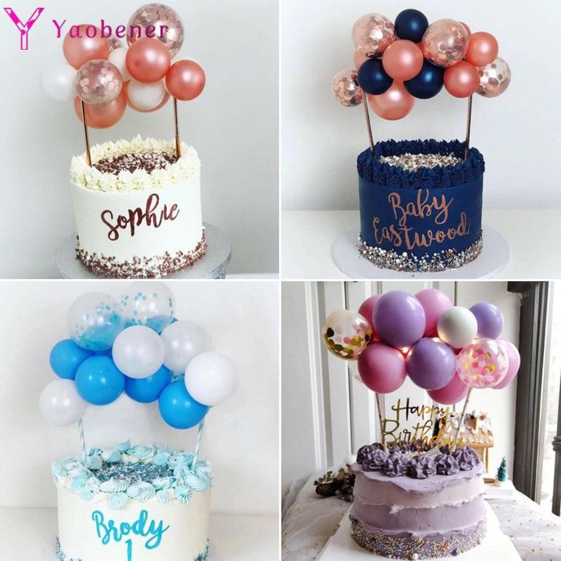 15 stücke Ballons Kuchen Topper 1st 1 2 3 4 5 18 21st 30 40 50 Jahre Glücklich Geburtstag Party dekorationen Erwachsene Kinder Junge Mädchen Shower