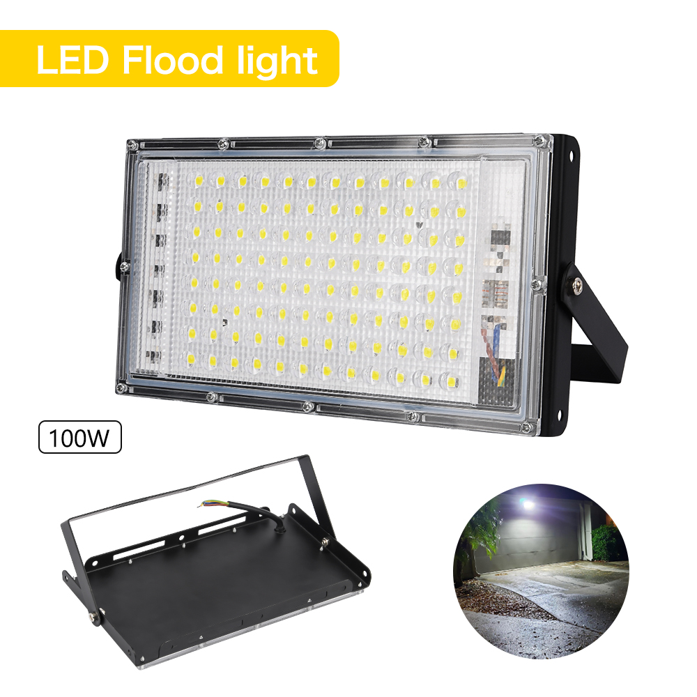 Super Bright 220V/110V LED Flood Light Spotlight Outdoor 100W IP65 Spot light Lamp Lights LED street Lamp for Yard Garden