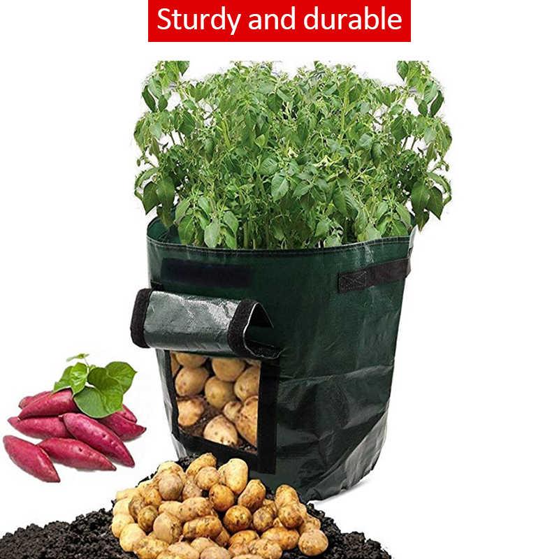 2pcs Vegetable Potato Planting Bags Root Growth Planter Bag Gallon Nursery Bag