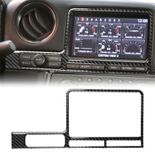 Decoratie Cover Trims Voor Nissan GT-R R35 2008-2016 Carbon Fiber Interieur Gps Navigatie Panel Cover