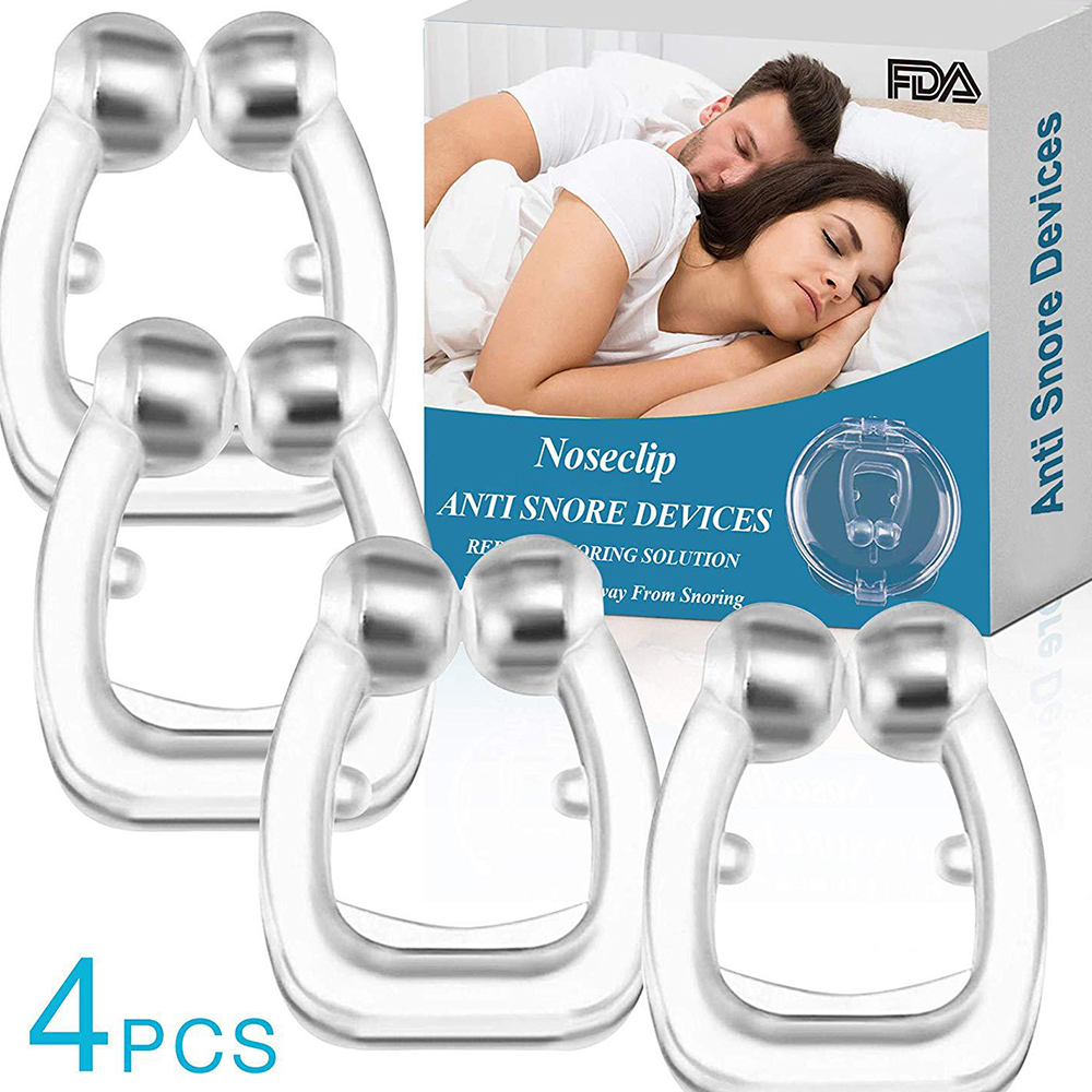 Apnea-Guard Case Nose-Clip Stop Snoring Night-Device Sleep-Tray Anti-Snore Magnetic Silicone