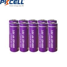 10 adet PKCELL AA piller 3.6V ER14505 14505 2400mah AA pil LiSCLO2 üstün LR6 R6P 1.5V piller GPS izleme kameraları