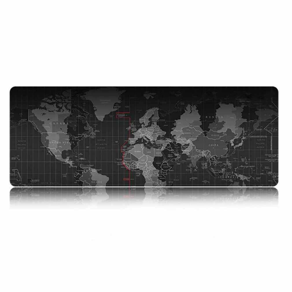 Carte du monde ancien grand tapis de souris de jeu tapis de souris Lockedge tapis de clavier tapis de bureau tapis de Table tapis de souris Gamer pour ordinateur portable portable Lol