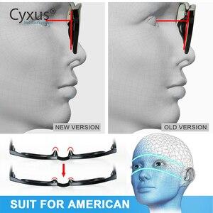 Image 4 - Cyxus مكافحة الأزرق ضوء نظارات الكمبيوتر ل مكافحة العين العين غطاء شفاف للهاتف عدسة TR90 إطار ترقية للرجال النساء نظارات 8182