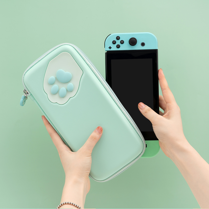 GeekShare Nintend Switch Case Cute Cat Claw CP Storage Bag Silicone Hard Shell Cover Box For NS Game Console Accessories