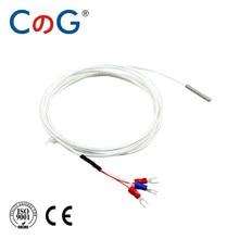Cg 5mm * 30mm k j pt100 1m 2m 3m 5m tipo cabo do sensor de temperatura do par termoelétrico da ponta de prova para o controlador de temperatura industrial