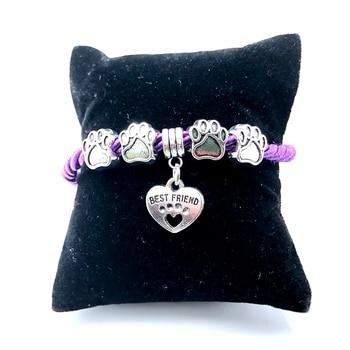 Dog Paw Charm Bracelet  3