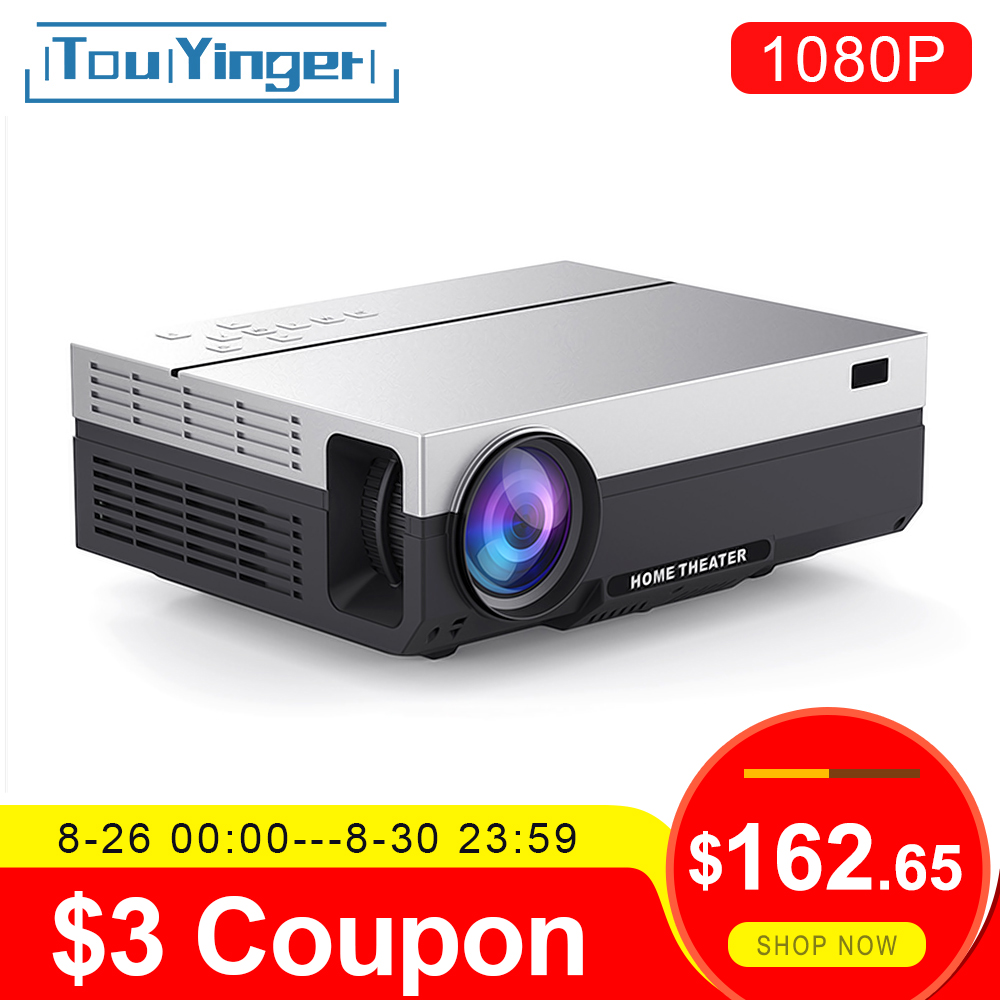 Touyinger Home Cinema Beamer Native Wifi 1080p Projector T26L Android Lumen Full-Hd LED