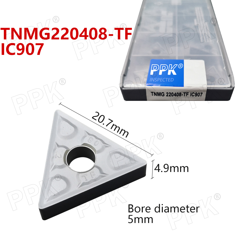 Hard Alloy TNMG220408-TF IC907 External Turning Tools TNMG220408-TF IC907 Carbide Inserts Lathe Cutter Cutting Tool CNC Tools