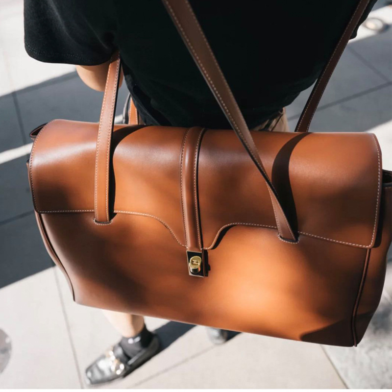 2020 nian New Style for Autumn and Winter A Xi Brother Liu Leather Toth Bag SOFT16 Leather Shoulder Hand-Held Women's Bags(China)