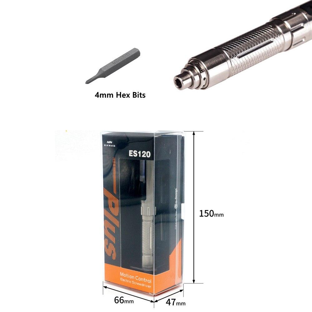 H67e098959c244efcb48cd7e42023452f2 - ES120 Plus Mini Precision Cordless Electric Screwdriver Smart Motion Control Power Screwdriver 16pcs 4mm Hex Bits Set