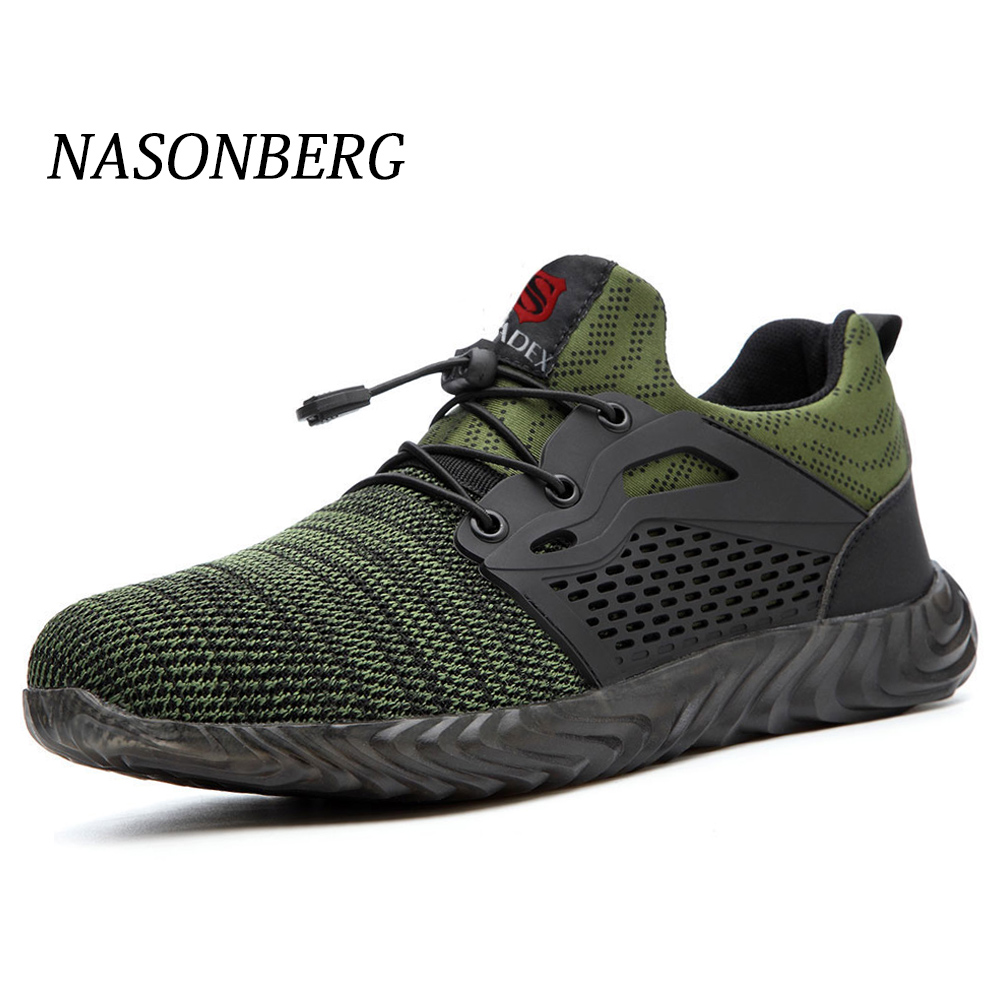 NASONBERG Men's Winter Steel Toe Cap Safety Shoes Men Outdoor Anti-slip Steel Construction Lightweight Work Shoes Puncture Proof