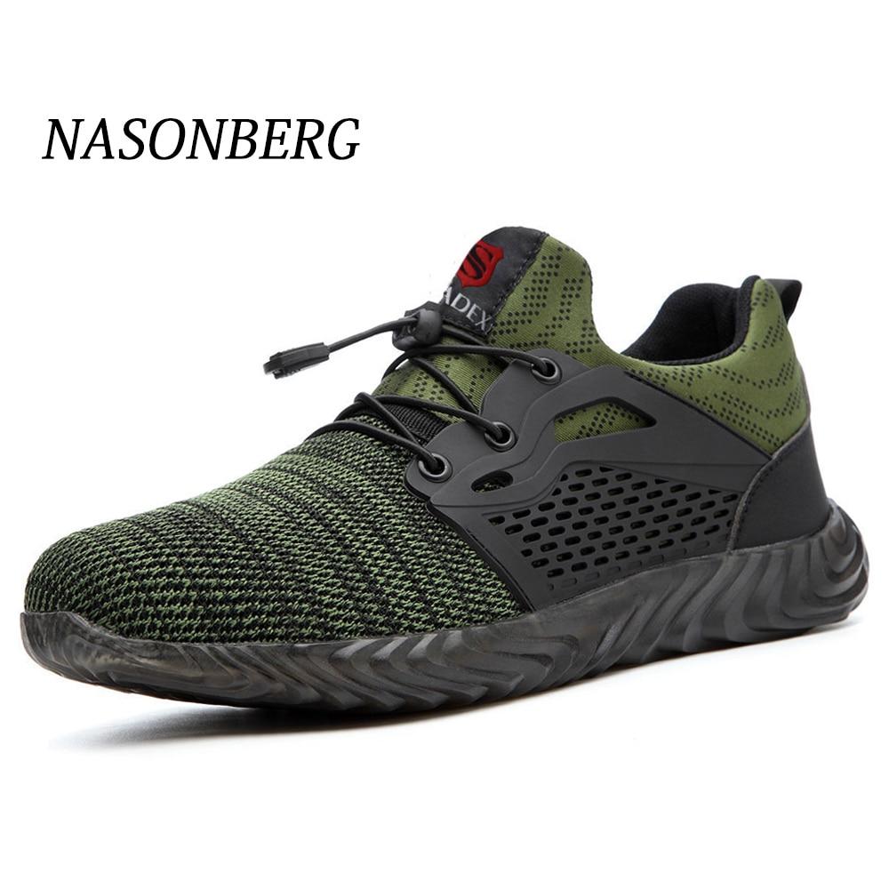 NASONBERG Men's Winter Steel Toe Cap Safety Shoes Men Outdoor Anti-slip Steel Construction Lightweight Work Shoes Puncture Proof