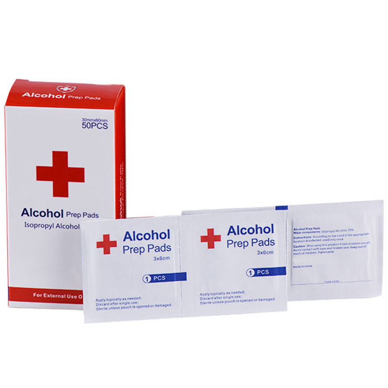 50Pcs Alcohol Wet Wipe Disposable Disinfection Prep Swap Pad Antiseptic Skin Cleaning Jewelry Mobile Phone Clean Wipe