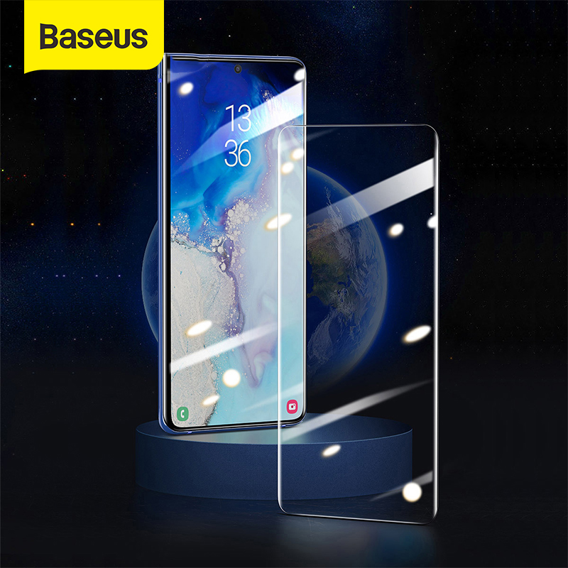 Baseus 2pcs 0.25mm Screen Glass Flim For Samsung S20 S20 Plus Galaxy S20 Ultra UV Glass Film Anti-Broken Glass Full Cover Flim