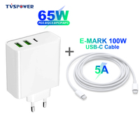 65 w usb tipo c pd carregador de parede rápido qc3.0 portátil adapte 20 v 3.25a 45 w para macbook air pro asus/dell/hp para iphone/samsung/xiaomi|Adaptador para laptop| |  -