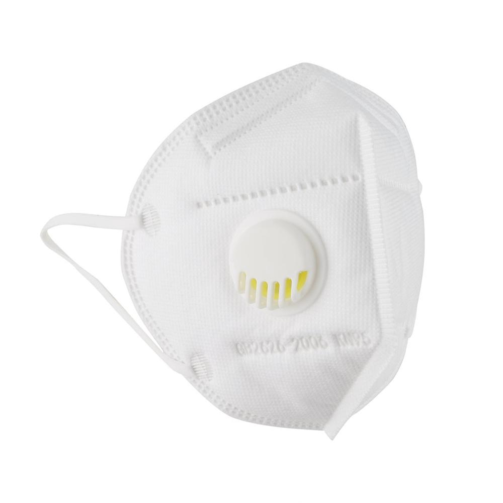 5-Layer Civilian Mask With Breathing Valve Filter High Efficiency Filtration  Mouth Mask Dust Respirator Reusable KN95 Mask