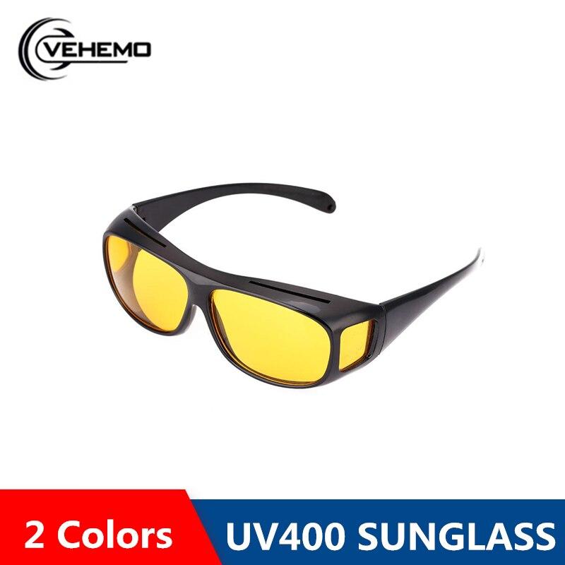 VEHEMO Driving Sunglasses HD Yellow Lens Glasses Fashion Anti Uv Sunglasses Driving Night Vision Polarized Sunglasses Men Women