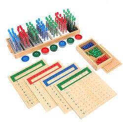 Монтессори пробирки дивизии деревянные abacus Монтессори игрушки для малышей развивающие игрушки
