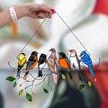 Украшения в виде птиц колокольчиков птицы на проводе высокого окрашенные в стиле «Ловца снов» окна Панель серии птица кулон подарки для пти...