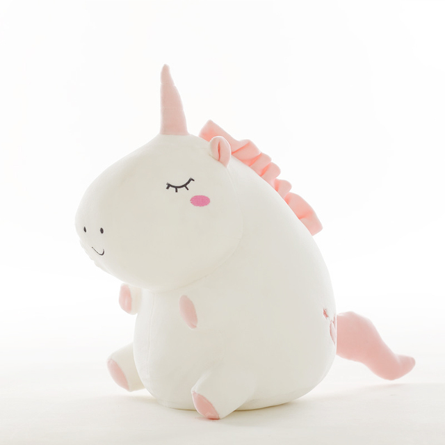unicorn plush toy fat unicorn doll cute animal stuffed unicornio soft pillow baby kids toys for girl birthday  gift