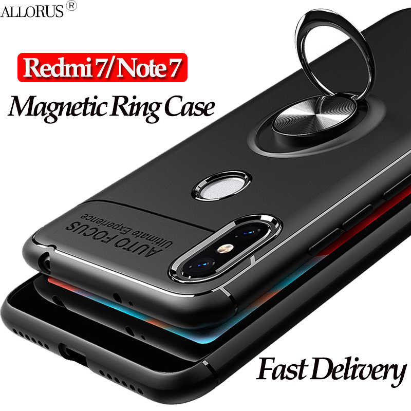 Magnetische hoesje voor Redmi 7 7A Redmi Note 7 Case Siliconen Volledige Beschermende Ring Telefoon hoesje Redmi 7 A Note 7 Pro Business Case Redmi 7A Back Cover