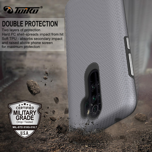 Image 4 - TOIKO X Guard 2 in 1 Shockproof Back Cover for xiaomi Redmi Note 8 Pro Case TPU PC Rugged Armor Protective Phone Accessory Shell
