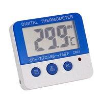 Display digital alarme termômetro com indicador led para aquário tanque de peixes réptil terrário geladeira Peças p/ geladeira     -