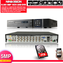 4MP 5MP CCTV DVR Hi3531 XMeye 16CH 16 Channel 6 in 1 Coaxial Hybrid XVI NVR CVI TVI AHD DVR USB WIFI Surveillance Video Recorder