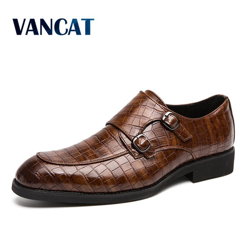 2020 New Fashion Men Business Dress Shoes Crocodile Pattern Pointed Toe Oxford Shoes Male Party Wedding Footwear Big Size 38-46