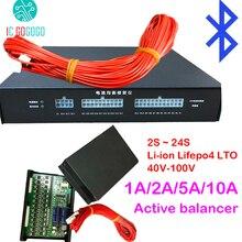 Активный эквалайзер 1 А 2 А 5 А 10 А с балансировкой литиевой батареи Bluetooth 2S ~ 24S BMS Li Ion Lifepo4 LTO JK балансировочная Защитная плата